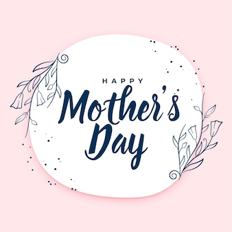 Design de cartão floral feliz para o dia das mães
