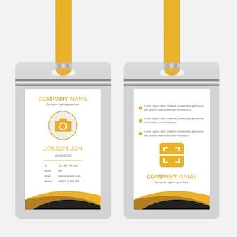 Design de cartão id oficial corporativo. modelo de design de carteira de identidade empresarial profissional
