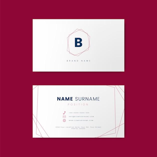 Design de cartão mínimo com formas geométricas