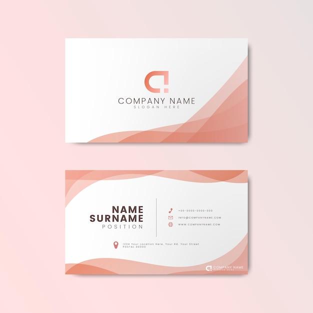 Design de cartão moderno mínimo