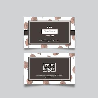 Design de cartão natural