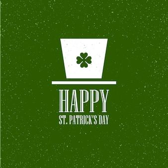Design de cartão plano de st. patricks day. ilustração