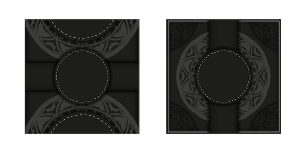 Design de cartão postal com ornamentos luxuosos. design de cartão de convite com espaço para o seu texto e padrões vintage.