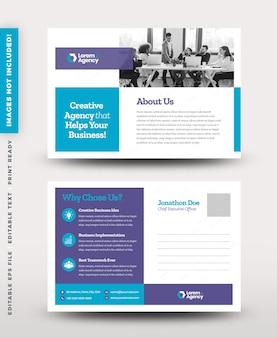 Design de cartão postal corporativo ou cartão de convite para salvar a data ou mala direta design eddm