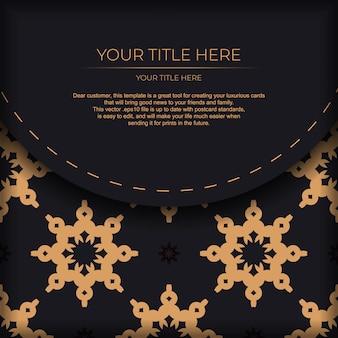 Design de cartão postal luxuoso com ornamento abstrato mandala vintage. pode ser usado como plano de fundo e papel de parede. elementos do vetor elegantes e clássicos prontos para impressão e tipografia.