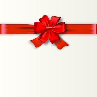 Design de cartão-presente com laço vermelho