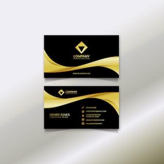 Design de cartão preto e dourado