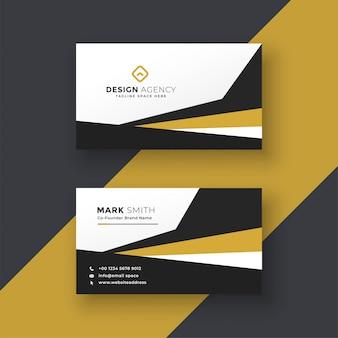 Design de cartão profissional abstrato