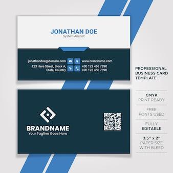 Design de cartão profissional de tecnologia