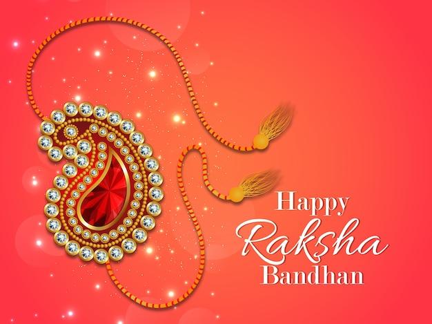 Design de cartão rakhi para celebração feliz raksha bandhan