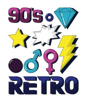 Design de cartão retrô dos anos 90