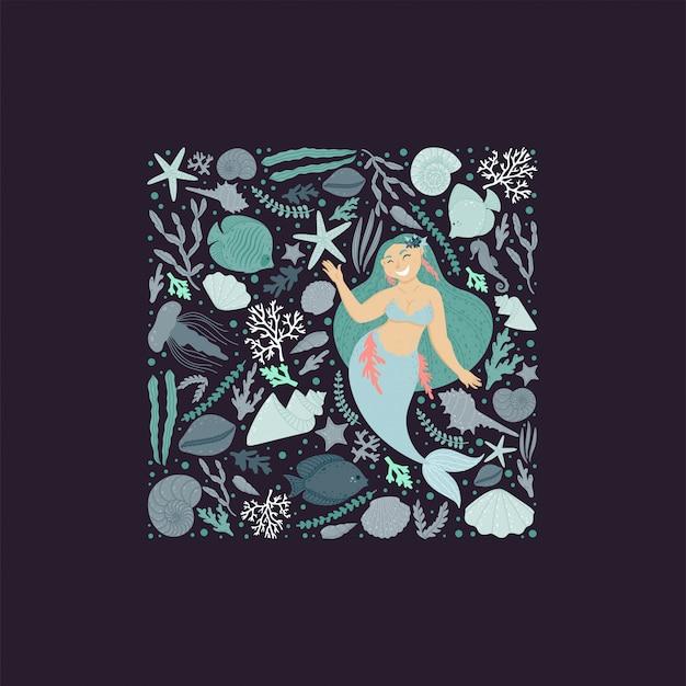 Design de cartão subaquática