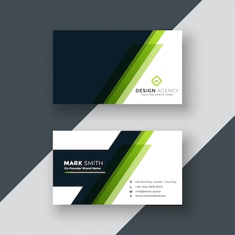 Design de cartão verde geométrico