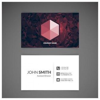Design de cartão vermelho
