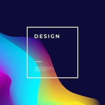 Design de cartaz com forma abstrata