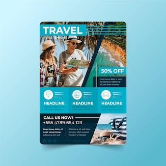 Design de cartaz conceito itinerante