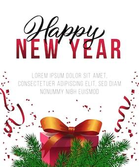 Design de cartaz de ano novo