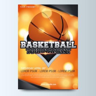 Design de cartaz de basquete. ilustração vetorial