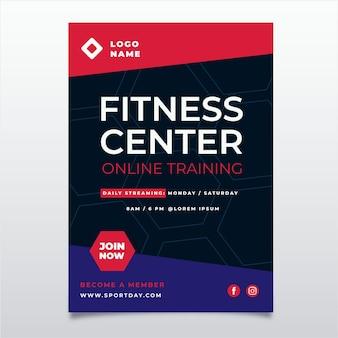 Design de cartaz de centro de fitness