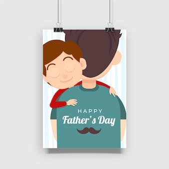 Design de cartaz de comemoração do dia dos pais