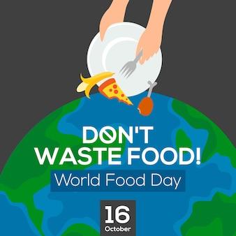 Design de cartaz de comida de resíduos