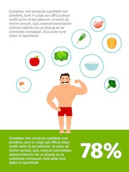 Design de cartaz de comida saudável