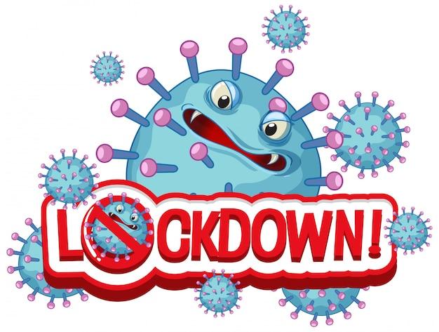 Design de cartaz de coronavírus com bloqueio de palavra