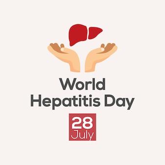 Design de cartaz de dia de hepatite. ilustração vetorial