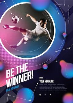 Design de cartaz de esporte