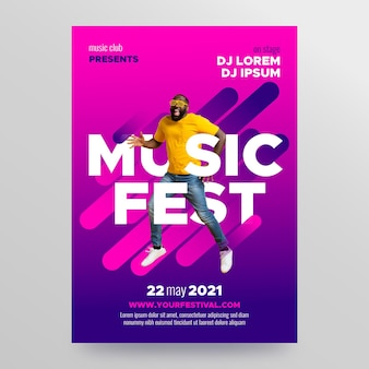 Design de cartaz de evento de música 2021