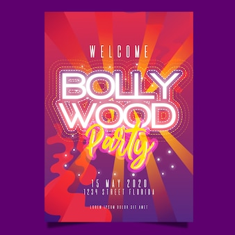 Design de cartaz de festa de bollywood