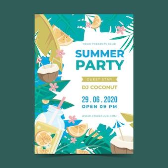 Design de cartaz de festa de verão
