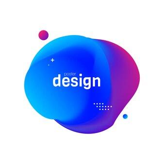Design de cartaz de fluido abtract