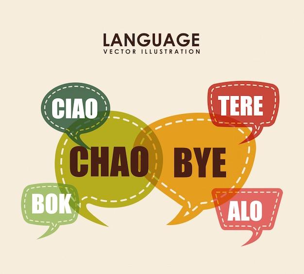 Design de cartaz de linguagem