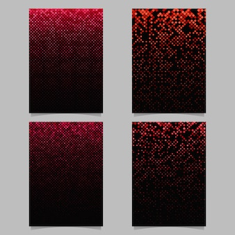 Design de cartaz de padrão quadrado