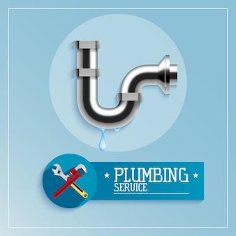 Design de cartaz de serviço de encanamento