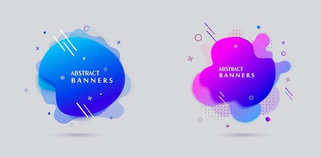Design de cartaz de venda de banners de forma líquida de estilo moderno