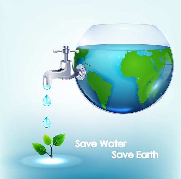 Design de cartaz do dia mundial da água