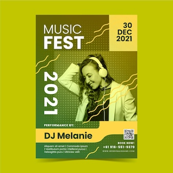 Design de cartaz do festival de música
