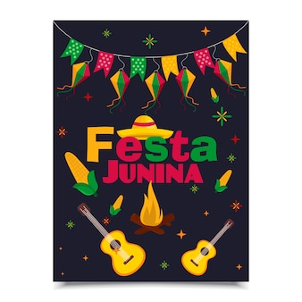 Design de cartaz festa junina