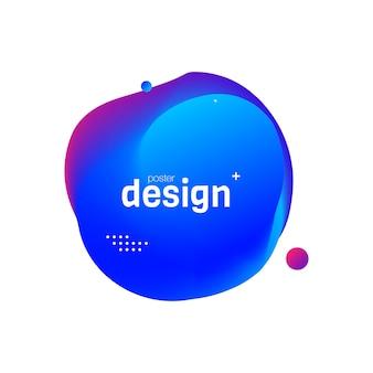 Design de cartaz fluida abstrata