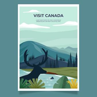 Design de cartaz ilustrado de viagens
