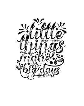 Design de cartaz motivacional de tipografia desenhada à mão