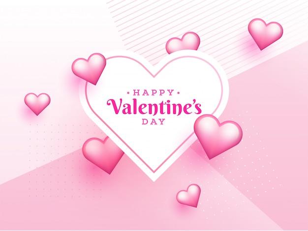 Design de cartaz ou modelo de dia dos namorados com coração formas illu