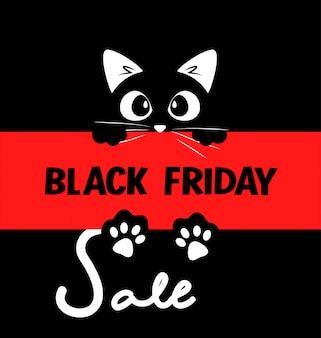 Design de cartaz tipográfico de venda de sexta-feira negra
