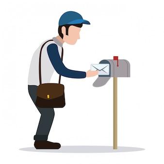 Design de carteiro de entrega.