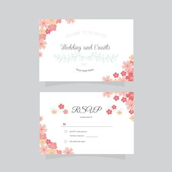 Design de casamento de cartão de visita