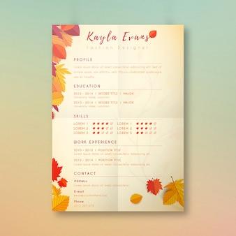 Design de cédula com tema de outono