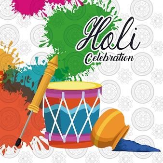 Design de celebração holi