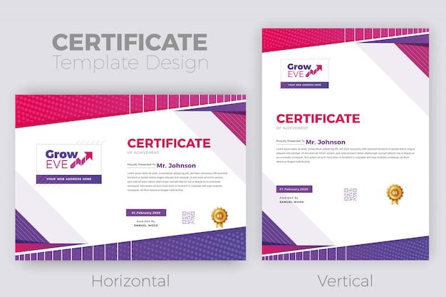 Design de certificado psd